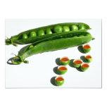 Tea Peas - Peas in a Pod with Tea Pea Cups 5x7 Paper Invitation Card
