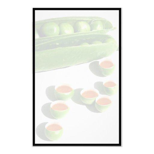 Tea Peas - Peas in a Pod with Tea Pea Cups Stationery