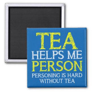 Tea Person Personing Funny Fridge Magnet