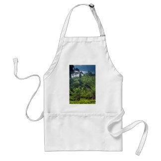 Tea plantation and lake adult apron