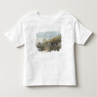 Tea planting (w/c on paper) toddler t-shirt