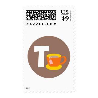 tea postage stamp