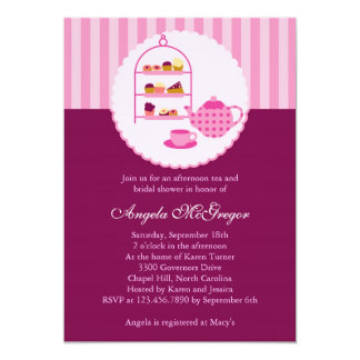Tea Pot and Pastries Bridal Shower Invitation