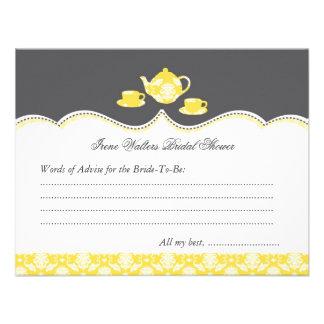 Tea Pot Bridal Shower Advise Card Custom Invitation
