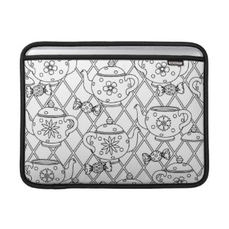 Tea Pot Doodle Sleeves For MacBook Air