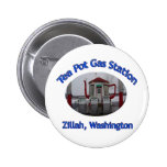 Tea Pot Gas Station 2 Inch Round Button