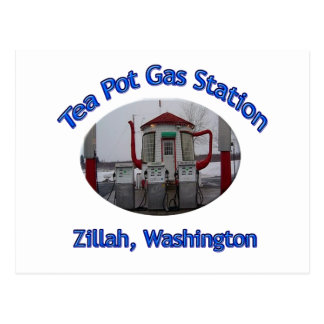Tea Pot Gas Station Postcard