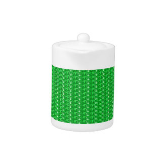 Tea Pot Green Gllitter