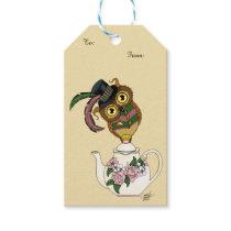 Tea Pot Owl Gift Tags