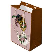 Tea Pot Owl Medium Gift Bag