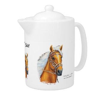 Tea Pot, Porcelian, Solid Gold! Teapot