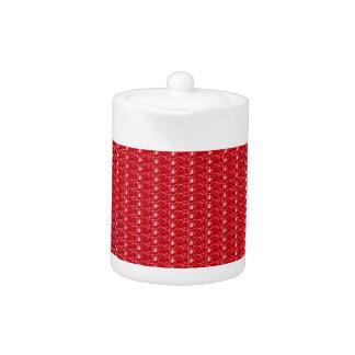 Tea Pot Red Glitter