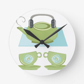 Tea Pot Round Clock