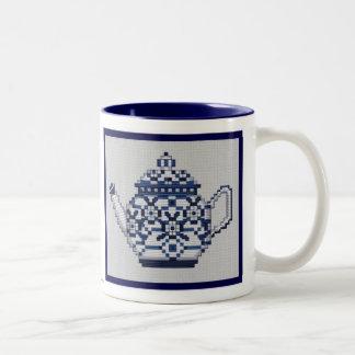 TEA POT Tea Cup Cross Stitch Style Design