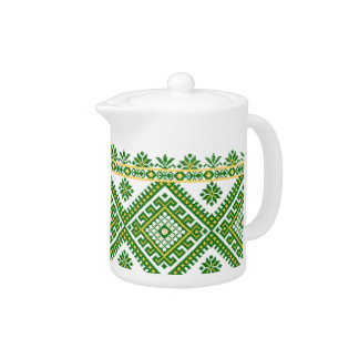 Tea Pot Ukrainian Embroidery Print