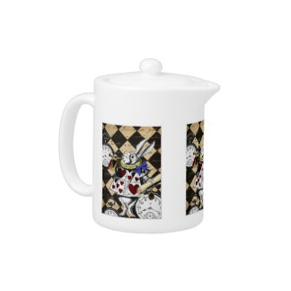 Tea Pot - White Rabbit, Alice in Wonderland
