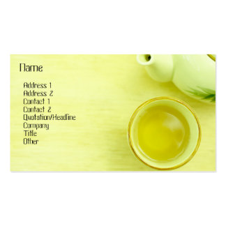 Tea Profile Card Business Card Template