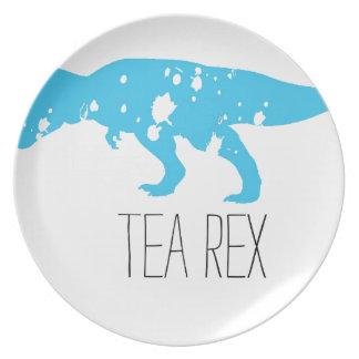 Tea Rex Blue Melamine Plate