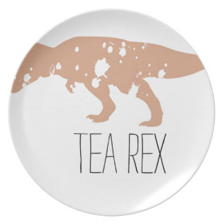 Tea Rex Brown Melamine Plate