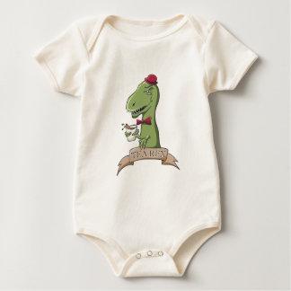 Tea Rex Dinosaur Baby Bodysuit