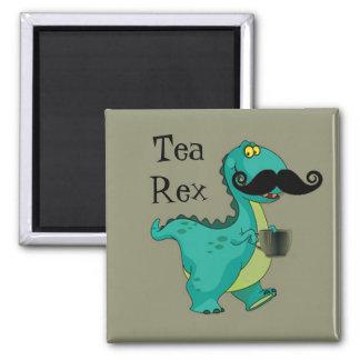 Tea Rex Funny Dinosaur Cartoon Innuendo 2 Inch Square Magnet