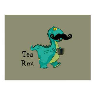 Tea- Rex Funny Dinosaur Cartoon Innuendo Postcard