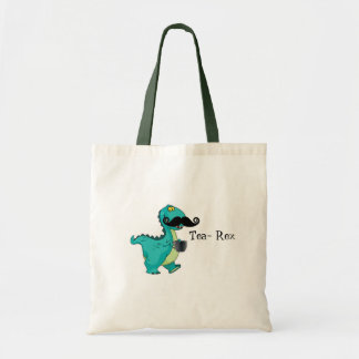 Tea- Rex Funny Dinosaur Cartoon Innuendo Tote Bag