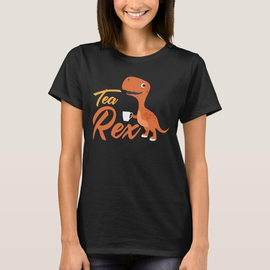 Tea Rex, Funny Tea Lover, Tea Addict, Favorite Tea T-Shirt - Best Selling Long-Sleeve Street Fashion Shirt Designs