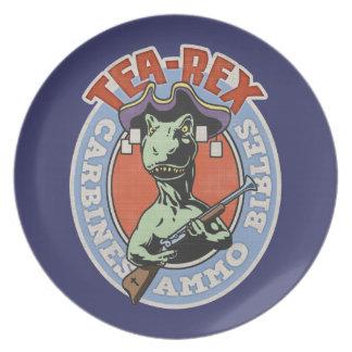 Tea-Rex Melamine Plate