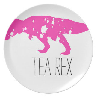 Tea Rex Pink Melamine Plate