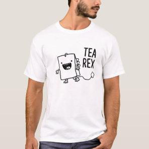 Tea Rex Tea Bag Funny Pun Cartoon T-Shirt