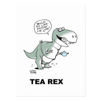 Tea Rex tea shirt card