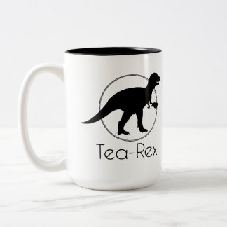 Tea Rex Two-Tone Coffee Mug