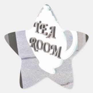 Tea Room Star Sticker