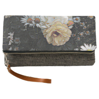 Tea Rose and Chamomile Fold-Over Clutch
