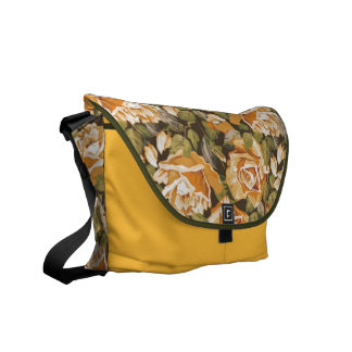 Tea-rose garden Rickshaw Messenger Bag