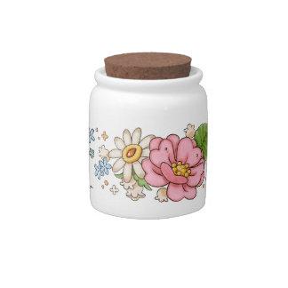 Tea Rose jar Candy Dishes