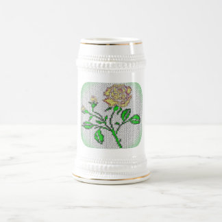 Tea Rose Mosaic Beer Stein