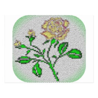 Tea Rose Mosaic Postcard