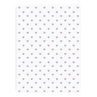 Tea Rose Pink Glitter Hearts Pattern 6.5x8.75 Paper Invitation Card