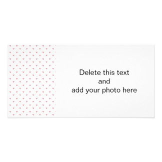 Tea Rose Pink Glitter Hearts Pattern Card