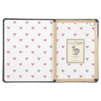 Tea Rose Pink Glitter Hearts Pattern Case For iPad Air