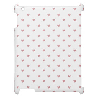 Tea Rose Pink Glitter Hearts Pattern Cover For The iPad 2 3 4