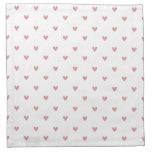 Tea Rose Pink Glitter Hearts Pattern Napkin