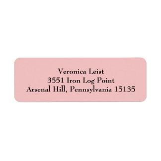 Tea Rose Pink Simple Plain Return Address Labels