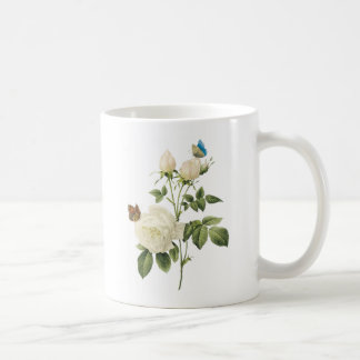 tea rose Rosa indica by Redouté Coffee Mugs