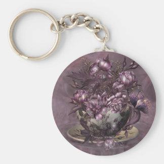 Tea & Roses Art Keychain