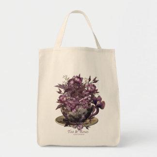 Tea & Roses Canvas Bag