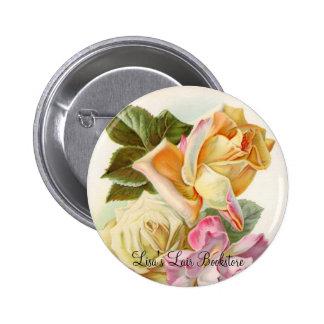 Tea Roses Pinback Button