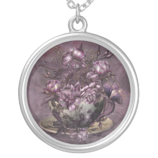 Tea & Roses Wearable Art Necklace